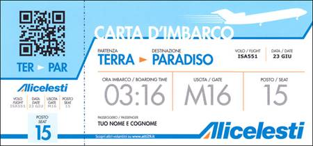 Biglietto aereo - Confezione da 100 opuscoli (Cartoncino)