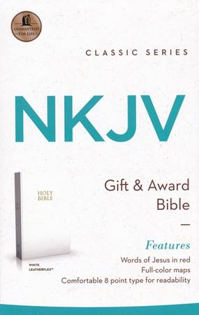 NKJV Gift And Award Bible White (Similpelle)