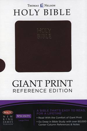 NKJV Giant Print Bible Burgundy (Similpelle)