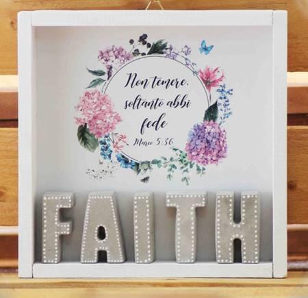 Cubotto Faith grigio/fiori