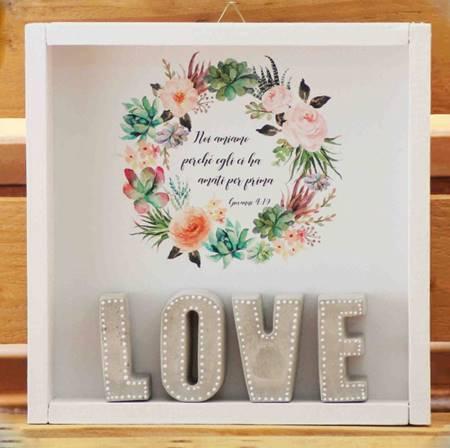 Cubotto Love grigio/fiori
