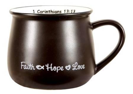 Tazza Faith Hope Love - Dark Brown