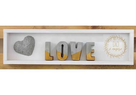 Cubotto rettangolare Love dorato