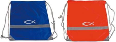 A1409 - Sacca Pesce in stoffa Rossa o Blu