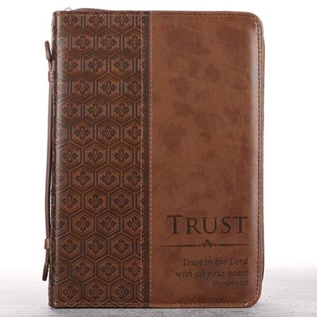 Copribibbia Trust Brown - Medium (Similpelle)