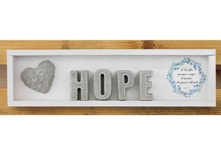 Cubotto rettangolare Hope grigio/fiori