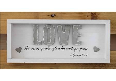 Cubotto corto Love grigio con bordo rialzato