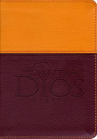 Bibbia in Tagalog TIA ASD Tutone Arancione/Marrone (Pelle)