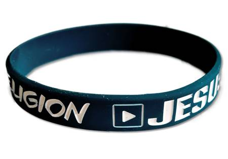 Braccialetto Stop Religion Play Jesus Blu