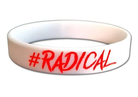 Braccialetto in silicone #Radical Bianco