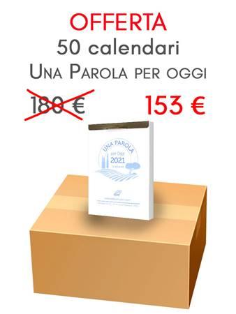 Scatola Calendari Una Parola per Oggi - 50 pezzi (Blocchetto con fermo metallico)