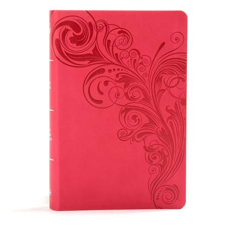 KJV Large Print Personal Size Reference Bible - Pink (Similpelle)
