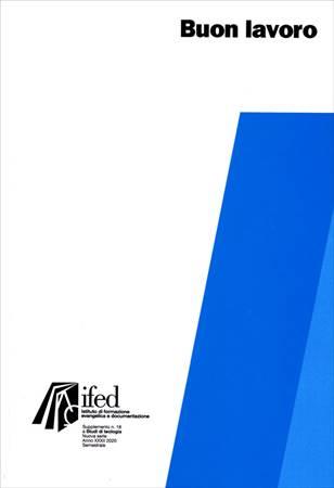 Buon lavoro - Supplemento n° 18 a Studi di Teologia (Brossura)
