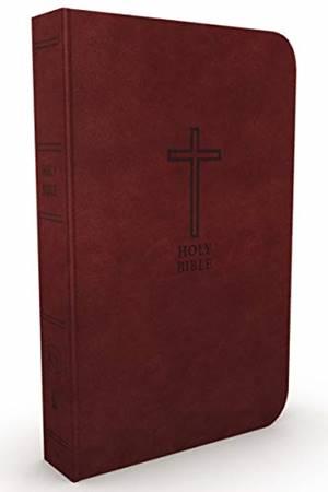 KJV Value Thinline Bible Burgundy, Large Print, Red Letter Edition (Similpelle)