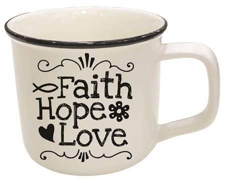 Tazza Faith Hope Love Bianca
