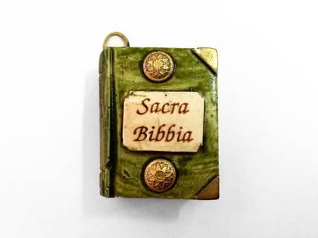 Bibbia in ceramica con gancetto