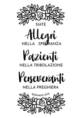 Adesivo Allegri nella speranza - Romani 12:12 Grande (ST)