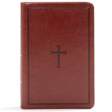 KJV Large Print Compact Reference Bible - Brown (Similpelle)
