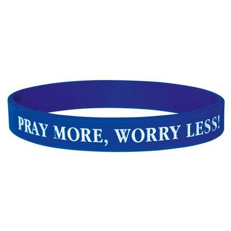 Braccialetto in silicone Pray more, worry less
