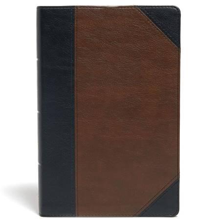 KJV Large Print Personal Size Reference Bible Black/Brown (Similpelle)