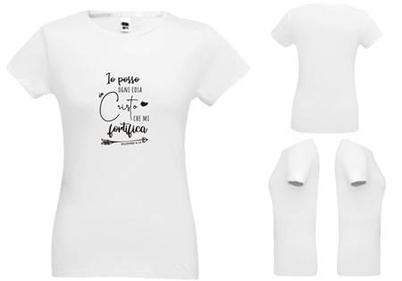 T-shirt bianca da donna