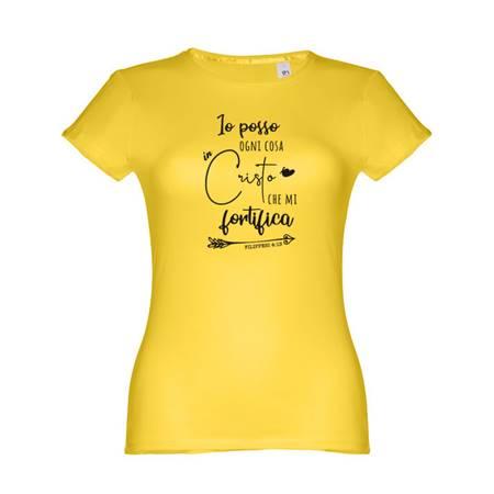 T-shirt gialla da donna