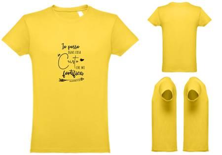 T-shirt gialla da uomo