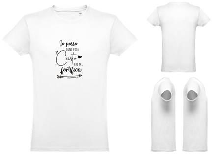 T-shirt bianca da uomo