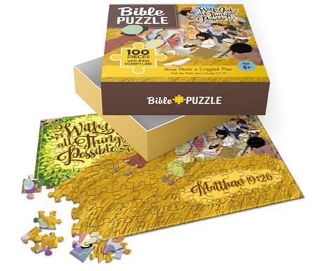 Puzzle Jesus Heals a crippled man 100 pezzi (Scatola)
