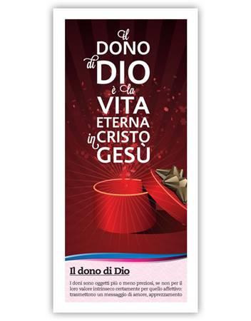 Il dono di Dio (Rosso) - Confezione da 500 opuscoli (Volantino)