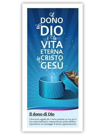 Il dono di Dio (Blu) - Confezione da 500 opuscoli (Volantino)