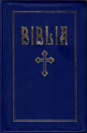 Bibbia in Rumeno PVC Blu (PVC)