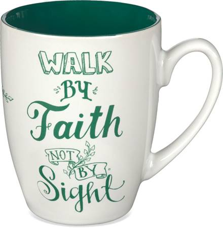 "Tazza ""Walk by faith, not by sight"" con Giftbox"