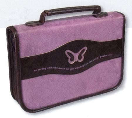 Copribibbia Farfalla Viola Grande (Pelle)
