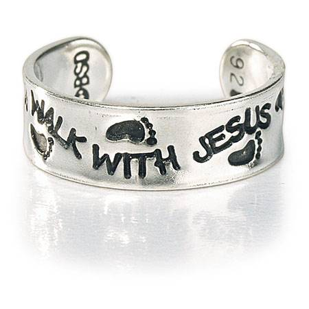 Anello per dito del piede in Argento - Walk With Jesus