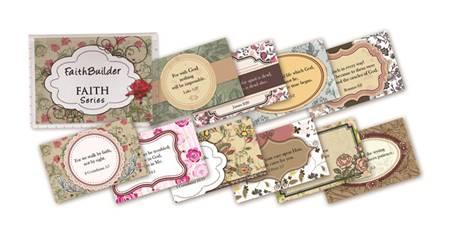 """Mini cards serie """"Faith"""""""