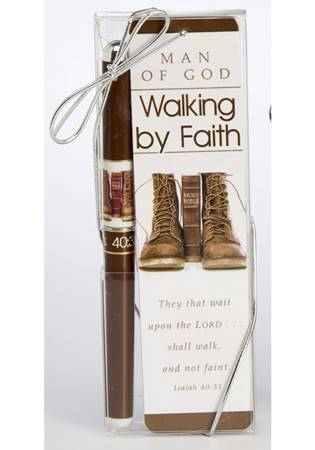 """Segnalibro + Penna """"Walking by faith"""""""