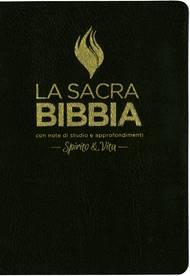 Bibbia da studio Spirito & Vita in Pelle Nera