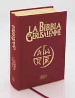 La Bibbia di Gerusalemme Versione in pelle con taglio oro