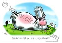 Cartolina Mucca con versetto 1Pietro 2:2 - Con busta