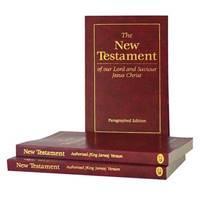 Nuovo Testamento in Inglese Versione king James Paragrafato (Brossura)