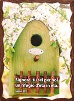 Quadretto in legno lavorato a mano - Salmo 90:1