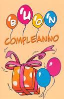 Biglietto Buon Compleanno Palloncini con Busta (Numero 6:24)