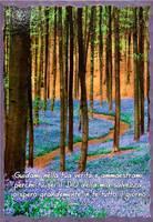 Quadro grande in legno lavorato a mano Salmo 25:5
