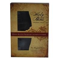 Holy Bible NKJV UltraSlim hand-bound premium black/red calfskin leather (Pelle)