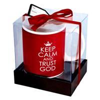 Tazza Keep calm and Trust God