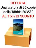 Offerta - Una scatola da 36 copie di Bibbie F03SE al 15% di sconto