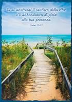 Quadro grande in legno lavorato a mano Salmo 16:11