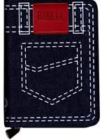 Biblia in lingua rumena - Tascabile in tessuto jeans con zip (Stoffa)