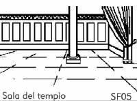 Sala del  Tempio - Sfondo su flanella
